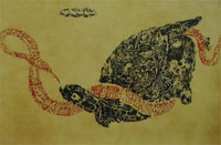Illustration Shiatsu Reims : le serpent et la tortue